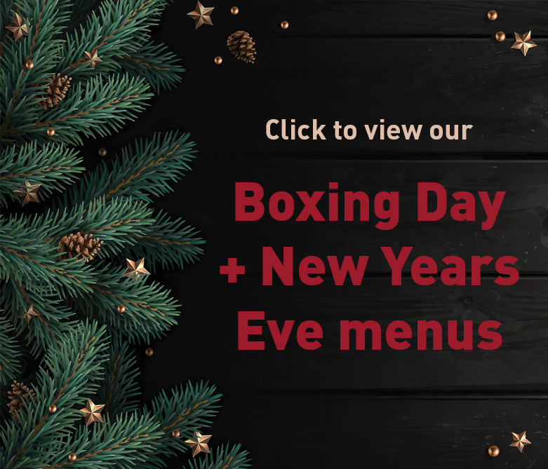 Now taking bookings for Christmas, Boxing Day and New Years Eve