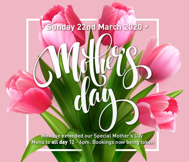 Treat Mum this Mother's Day with our special 3 Course lunch. Bookings being taken.